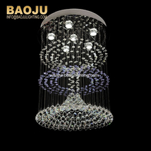 luxury large hanging flat chandelier Crystal Ball Light In Europe Style