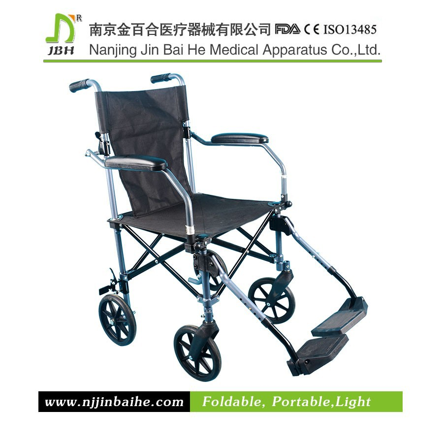Low-volume foldable manual wheelchair of steel frame