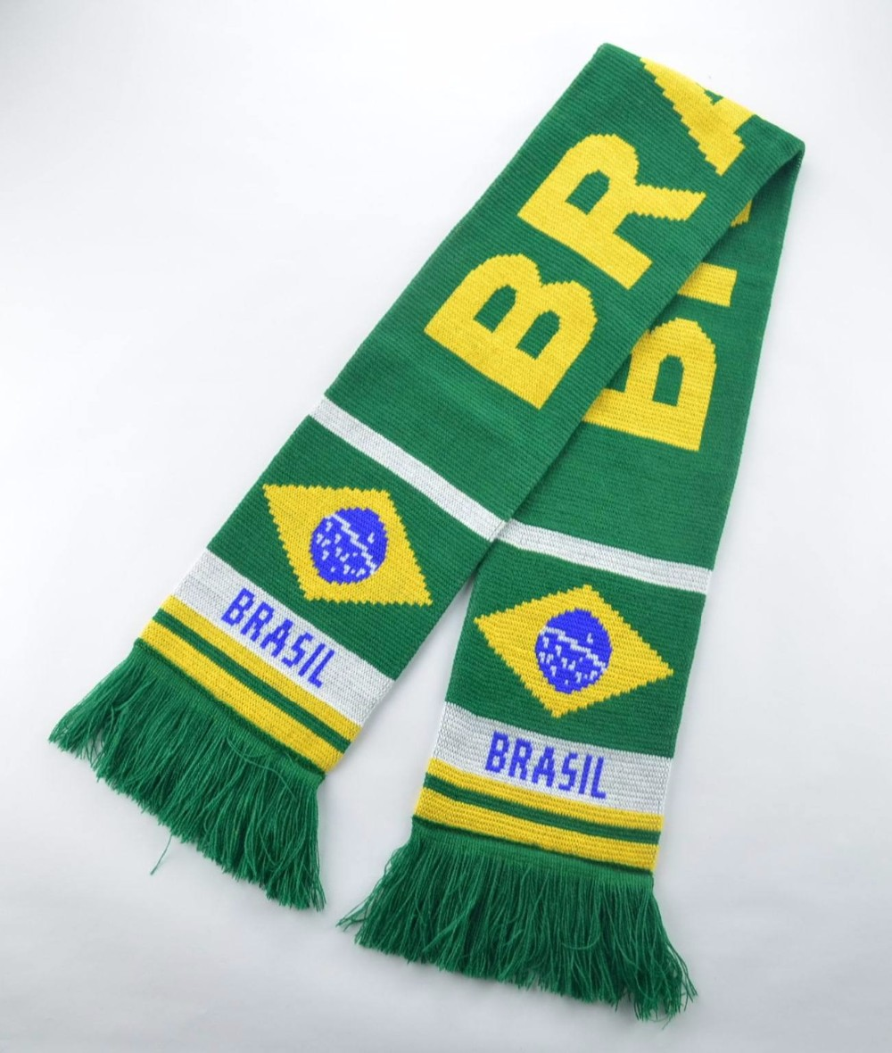 Good Quality 100% Acrylic Promotional Football Scarf