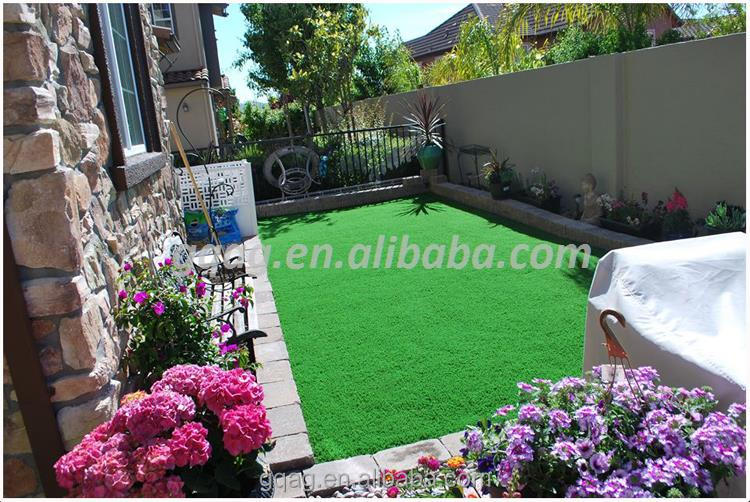 25mm PE artificial playground turf/grass with certificate
