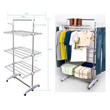 Multifunctional Three layers balcony clothes drying rack with high quality