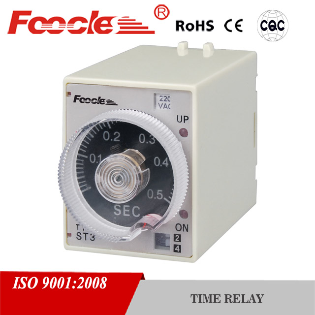 hot sale 110v 220v 12v 24v 0.1s 1s st3p on delay time relay
