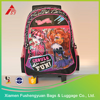 Alibaba China supplier 600D polyester folding trolley bag with wheels