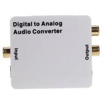 Digital Optical Coax Coaxial to Analog RCA Audio Converter