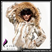 CX-G-A-61 Real Rabbit Fur Korea Ladies Fashion Clothing
