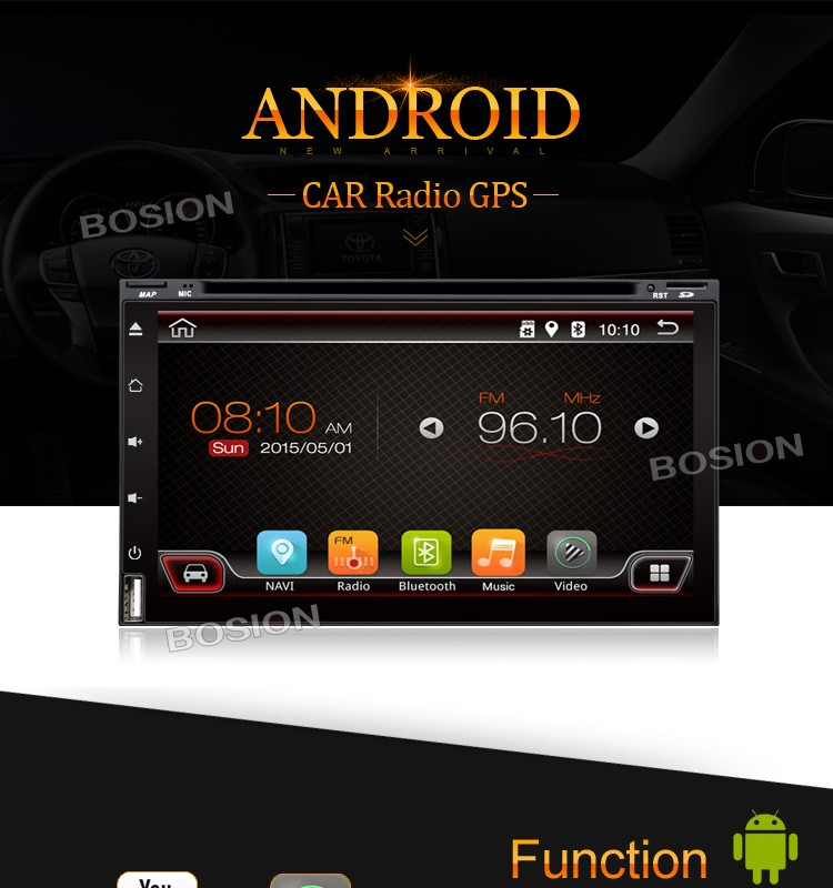 6 95 Inch Universal Double Din Android Touch Screen Radio
