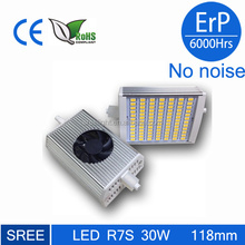 r7s led 118mm dimmable 30w SMD5630 LED chip,CRI>85,CE*ERP approved R7S led