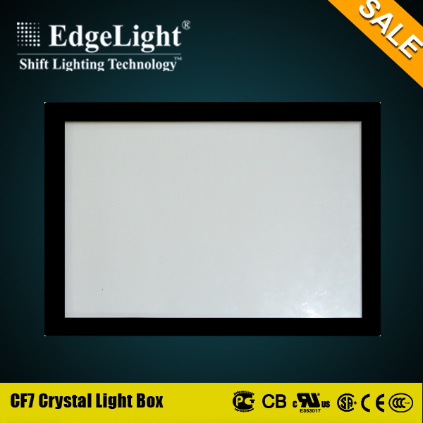 Edgelight Alibaba gold supplier crystal acrylic commercial light box with best brightness in China
