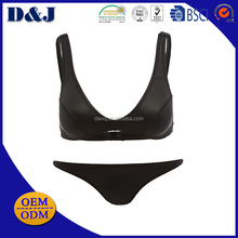 New Arrival OEM/ODM beautiful fast dry luex black women bikinis over the shoulder