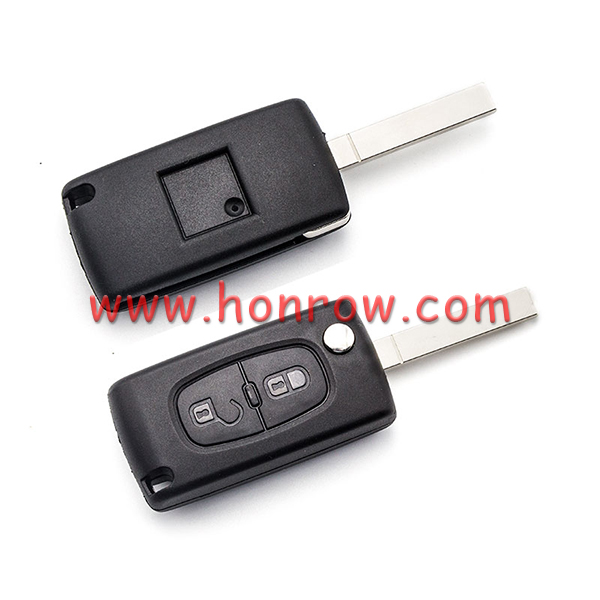 Citroen 2 button flip remote key with VA2 307 blade 433Mhz ID46 PCF7961 Chip ASK Model