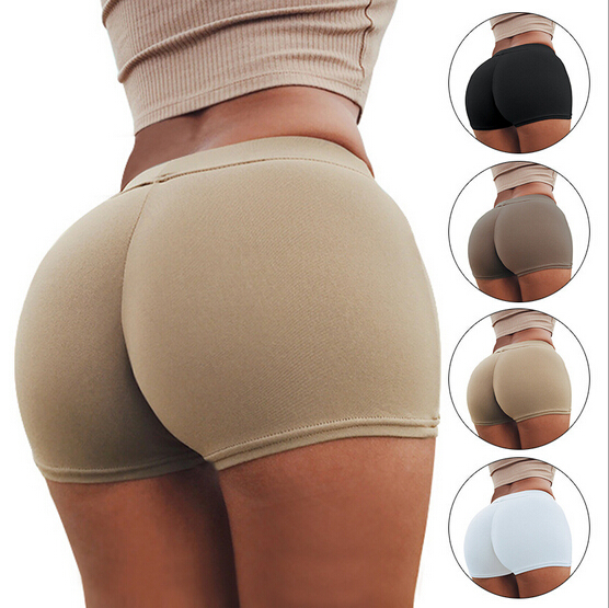 Stretchy Slim Hot Shorts Black Elastic Running Shorts Beach Short Pants Ladies Sport Tights
