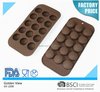 round silicone chocolate molds