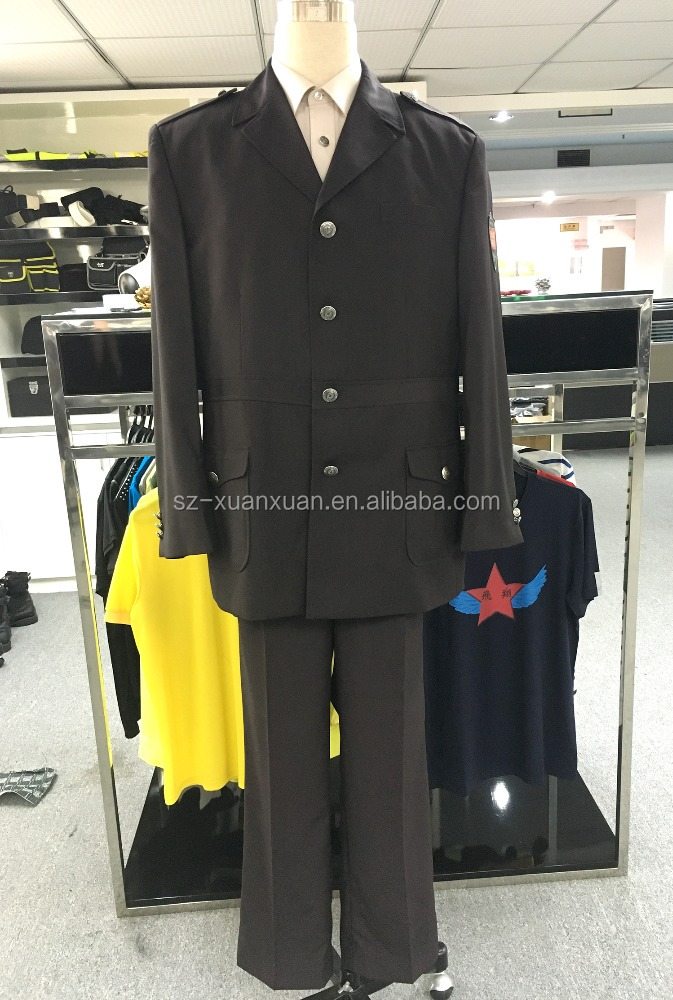 Stock men security suit uniform