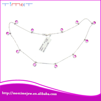 China new products women's sapphire necklace