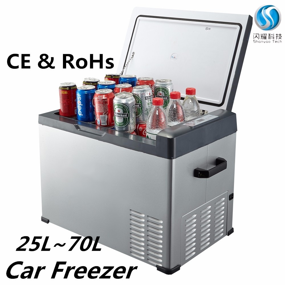 12v mini fridge freezer camping battery powered portable refrigerators thermoelectric cooler box 50L