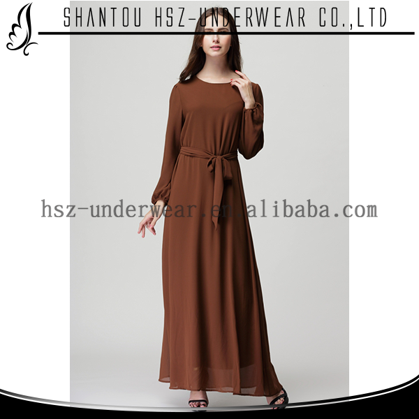 MD2001 Elegant islamic clothing muslim abaya long maxi sleeve dress busana muslim abaya gamis latest casual dress designs