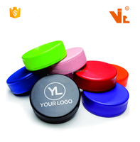 V-AS01 Promotional Hockey Puck Shape PU Memory Foam Stress Reliever Ball