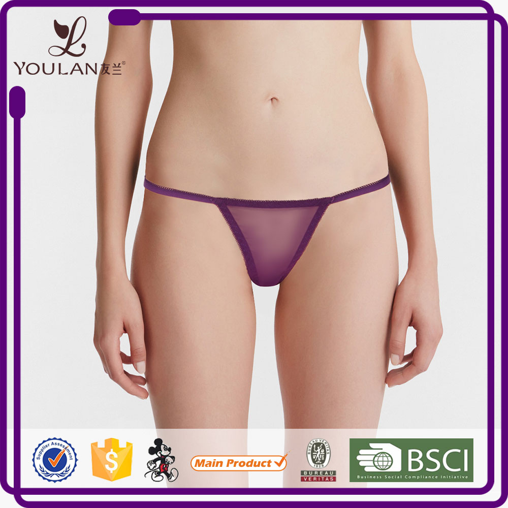Customized LOGO Beautiful Minimizer Bikini Panty Transparent Panties Thong