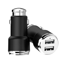 Black And White Mini 2 Usb Car Charger Holder
