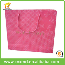 Customized paper bags with handles,flat handle kraft paper bag