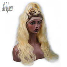 Leyuan Body Wave Full Lace Front Wig 8A Grade Brazilian Blonde Human Hair