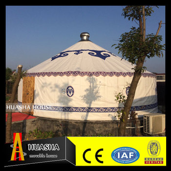 Luxury Permanent Steel frame or Wood Frame Mongolian Yurt