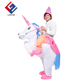 Adults or Child Baby mascot costume Rider costume inflatable Unicorn