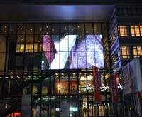 Full Color transparent glass led display board/ smd led see-through led display outdoor