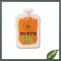 transparent Baby food supplement pouch with round spout