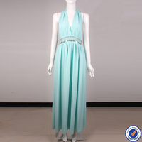Professional dress manufacturer oem maxi prom ladies pleated evening dress