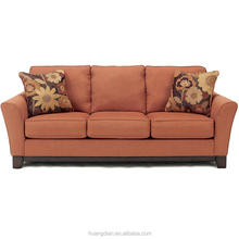 3 seater sofa very cheap price for hot sale red fabric wooden living room sofa furniture