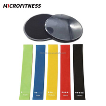 Amazon Core Exercise Sliders Gliding Discs 5 levels Resistance Loop Bands Set
