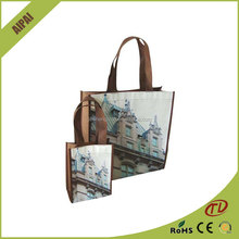 made china wholesale red shopping/gift handbags/pp woven bags