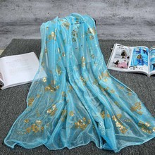 Wholesale Chiffon Large Sunblock Beach Gilding 170*50CM cheap pashmina shawls