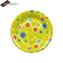 2016 new style print disposable divided paper plates