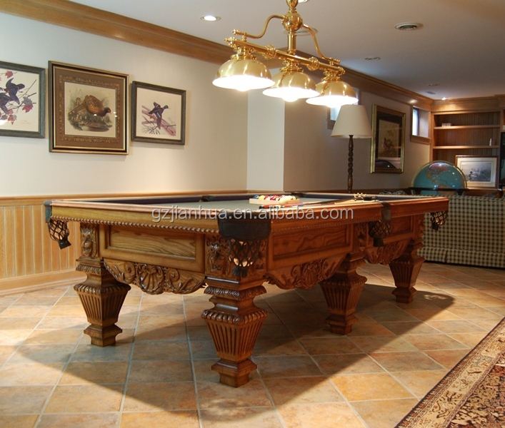 Hand carved pool table soild wood table low price antique hand carved wood tables