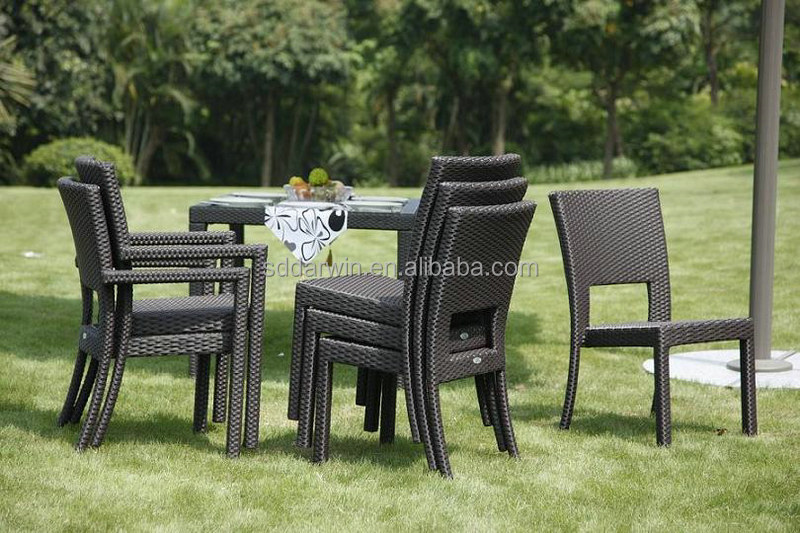 Outdoor PE Rattan Furniture Wicker Patio Stackable Dining Chair SV-7023