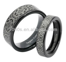 Hot sale 925 sterling silver couple tungsten carbide ring