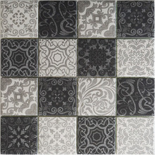 Exquisite hand paint Moroccan pattern inkjet glass mosaic tile for kitchen