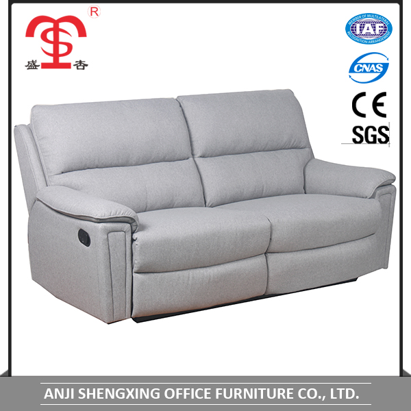 2017 Latest design home furniture double recliner sofa set for wholesale