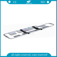 AG-5C portable aluminum alloy folding hospital scoop stretcher