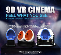 Chinese Manufacture 1/2/3 seats cinema Removable oversea market egg 9d vr cinema games machine
