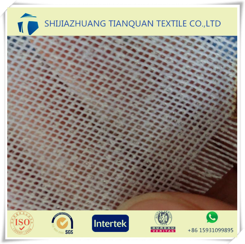 shijiazhuang manufacture wholesale garment use 100% polyester men suit fusing interlining fabric