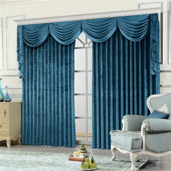 Italian curtain with attached valance church curtains decoration and stage velvet curtain