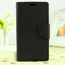 Factory supply wallet design pu leather phone case for sony xperia c4