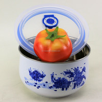 Hot selling daily use stainless steel bowl with lid