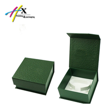 green papeboard clamshell box packaging watch bracelet storage pu leathder surface hard box