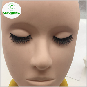 Wholesale private label real mink fur 3d lashes clear band false eyelash