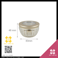 Sumptuous plastic product hot sale compact round powder container