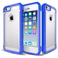 2 in 1 Ultra Thin Shockproof Hard Back Protective Ultra Slim Hybrid Cover Case for iPhone 5 5S